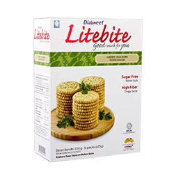 DIASWEET LITEBITE Crispy Crackers with Veggie