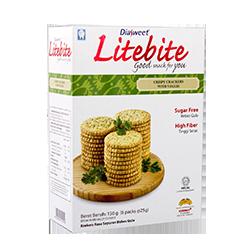 DIASWEET LITEBITE Crispy Crackers with Veggie