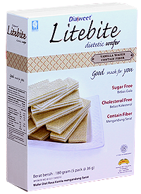 DIASWEET LITEBITE Vanilla Wafer with Fiber