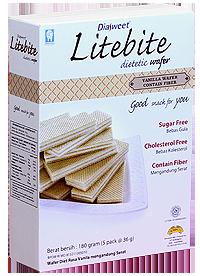 DIASWEET LITEBITE Vanilla Wafer with Fiber
