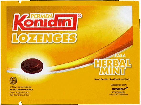 KONIDIN LOZENGES HERBAL MINT