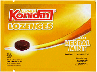 KONIDIN LOZENGES HERBAL MINT (dijual per 3 sachet)