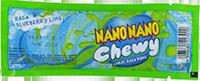Nano Nano Chewy Rasa Blueberry Lime (dijual per 3 sachet)
