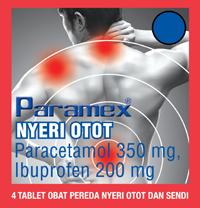 PARAMEX NYERI OTOT (dijual per 3 strip)