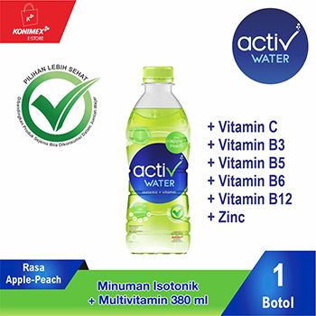 ACTIV WATER APPLE-PEACH Minuman Isotonik Multivitamin Botol