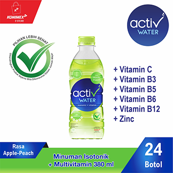 ACTIV WATER APPLE-PEACH Minuman Isotonik Multivitamin isi 24