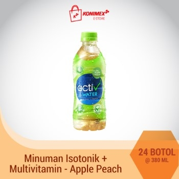 ACTIV WATER APPLE-PEACH Minuman Isotonik Multivitamin isi 24