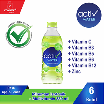 ACTIV WATER APPLE-PEACH Minuman Isotonik Multivitamin isi 6