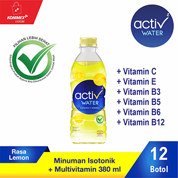 ACTIV WATER LEMON Minuman Isotonik Multivitamin isi 12