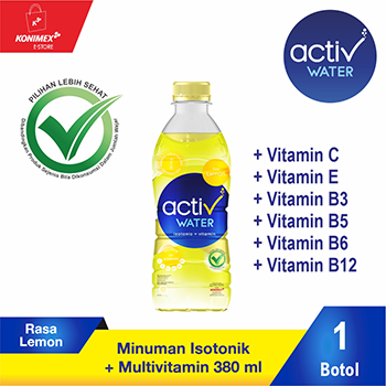 ACTIV WATER LEMON Minuman Isotonik Multivitamin Botol 380 ml