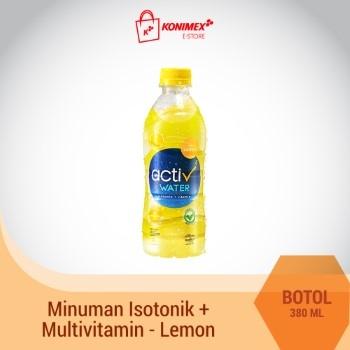 ACTIV WATER LEMON Minuman Isotonik Multivitamin Botol 380 ml