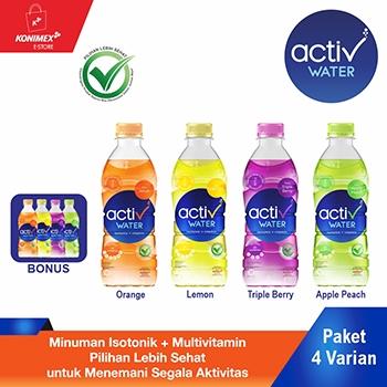 Activ Water Minuman Isotonik Multivitamin 380 ml Paket Campu