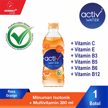 ACTIV WATER ORANGE Minuman Isotonik Multivitamin Botol 380 m