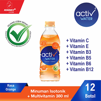 ACTIV WATER ORANGE Minuman Isotonik Multivitamin isi 12