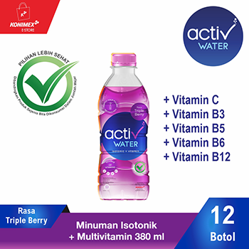 ACTIV WATER TRIPLE BERRY Minuman IsotonikMultivitamin isi 12
