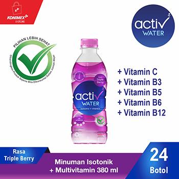 ACTIV WATER TRIPLE BERRY Minuman IsotonikMultivitamin isi 24