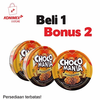 Chocomania Assorted Chip Cookies 1 Bonus 2 – Promo terbatas