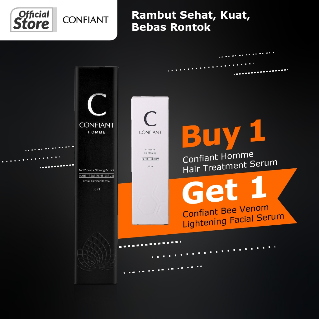 Confiant Homme Hair Treatment Serum 30ml 1+1
