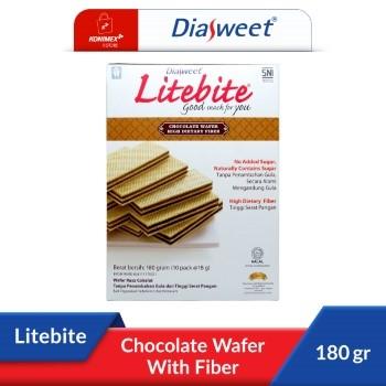 DIASWEET LITEBITE Chocolate Wafer with Fiber