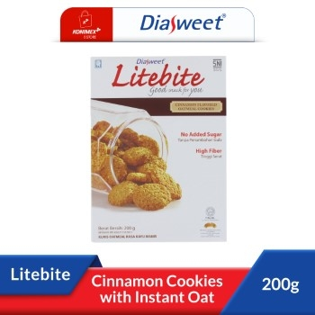 DIASWEET LITEBITE Cinnamon Cookies with Instant Oat
