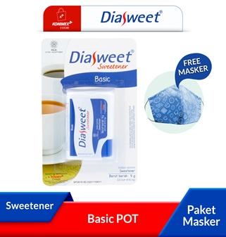 Diasweet Sweetener Basic Pot bonus Masker 2 ply