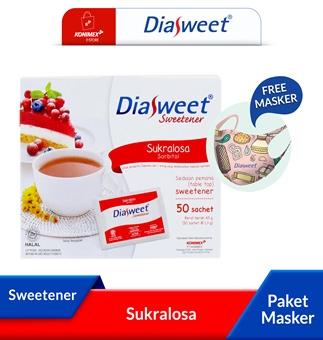 Diasweet Sweetener Sukralosa bonus Masker 3 ply