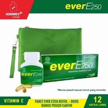 Ever E250 Vitamin E Botol 30 + Doos 12 + Pouch