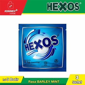HEXOS Barley Mint (dijual per 3 sachet)