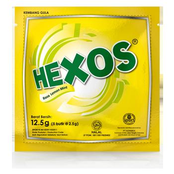 HEXOS Lemon Mint (dijual per 3 sachet)