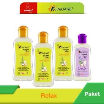 KONICARE PAKET RELAX (Minyak Telon Lemongrass 60 ml 3 botol)