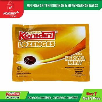 Konidin Lozenges Herbal Mint - 1+1