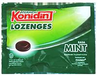 KONIDIN LOZENGES MINT (dijual per 3 sachet)