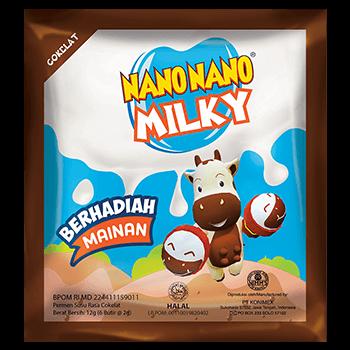 NANO NANO MILKY COKLAT (dijual per 3 sachet)