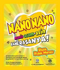 NANO NANO RUJAK NANAS (dijual per 3 sachet)