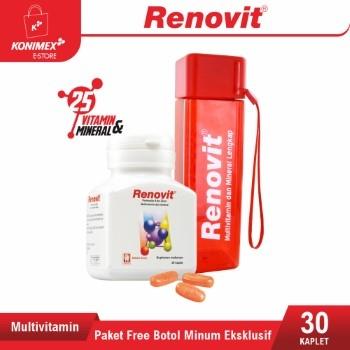 Paket Free Botol Minum Eksklusif Renovit Multivitamin