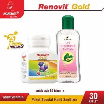 Paket Spesial PPKM Renovit Gold Multivitamin + Hand Sanitize