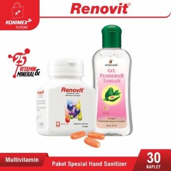 Paket Spesial PPKM Renovit Multivitamin + Hand Sanitizer