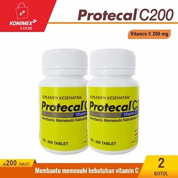 Protecal C200 – Vitamin C 200 tablet 2 botol