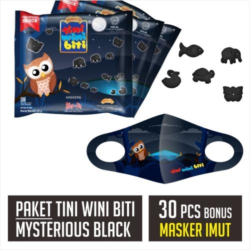 Tini Wini Biti Mysterious Black (Dijual per 30 Sak + Masker)